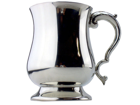 Georgian Pewter Tankard - 1 Pint - Handmade in Sheffield