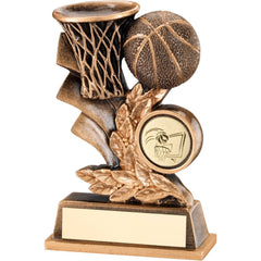 Basketball Trophy - Leaf Plaque Design