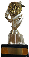 "Basketball Trophy (7"") - Economy Basketball Trophy with Plastic Riser and Basketball Centre"