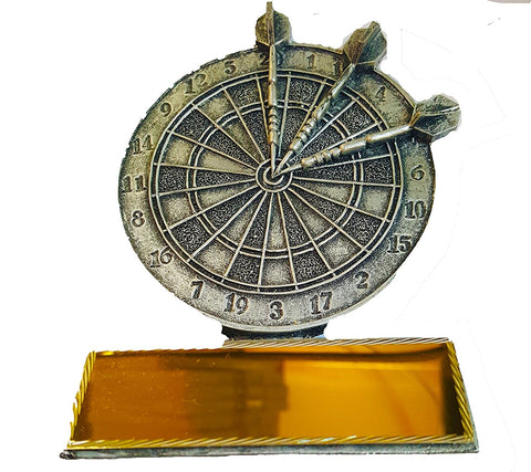 "Darts Trophy - Resin Dartboard Trophy (5"")"