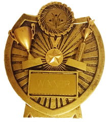 """Winner"" Trophy Shield - 5.5"" / 14cm - Engraved Resin Shield for Any Sport or Event"