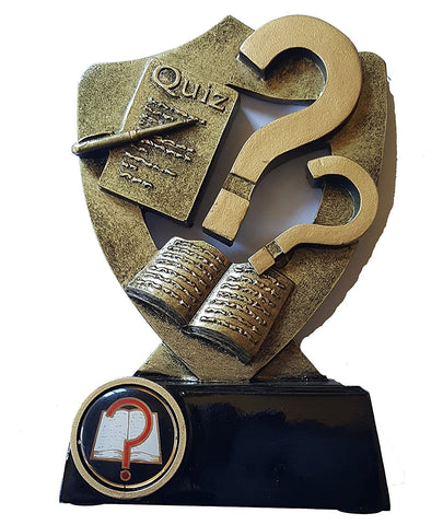 Quiz Trophy - Flatback Resin Tropy Shield