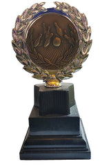 "Ten Pin Bowling Trophy (6"") - Economy 10-pin Bowling Trophy with Plastic Riser on Black Plastic Base"