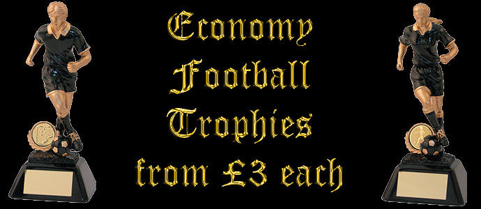 Football Trophies from £3 each on Trophy Maker UK