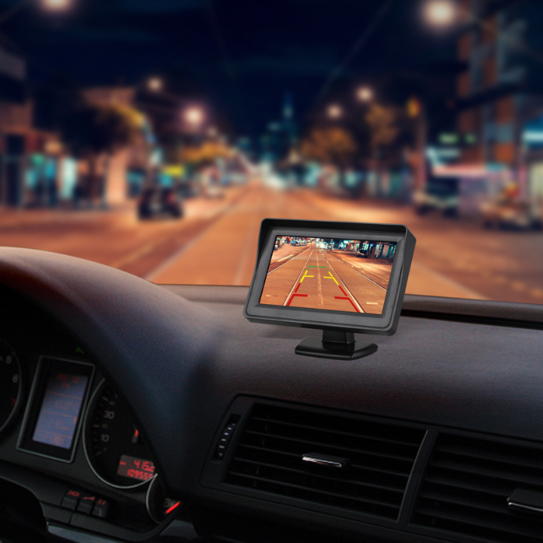 Wired Backup Camera and Monitor with Night Vision