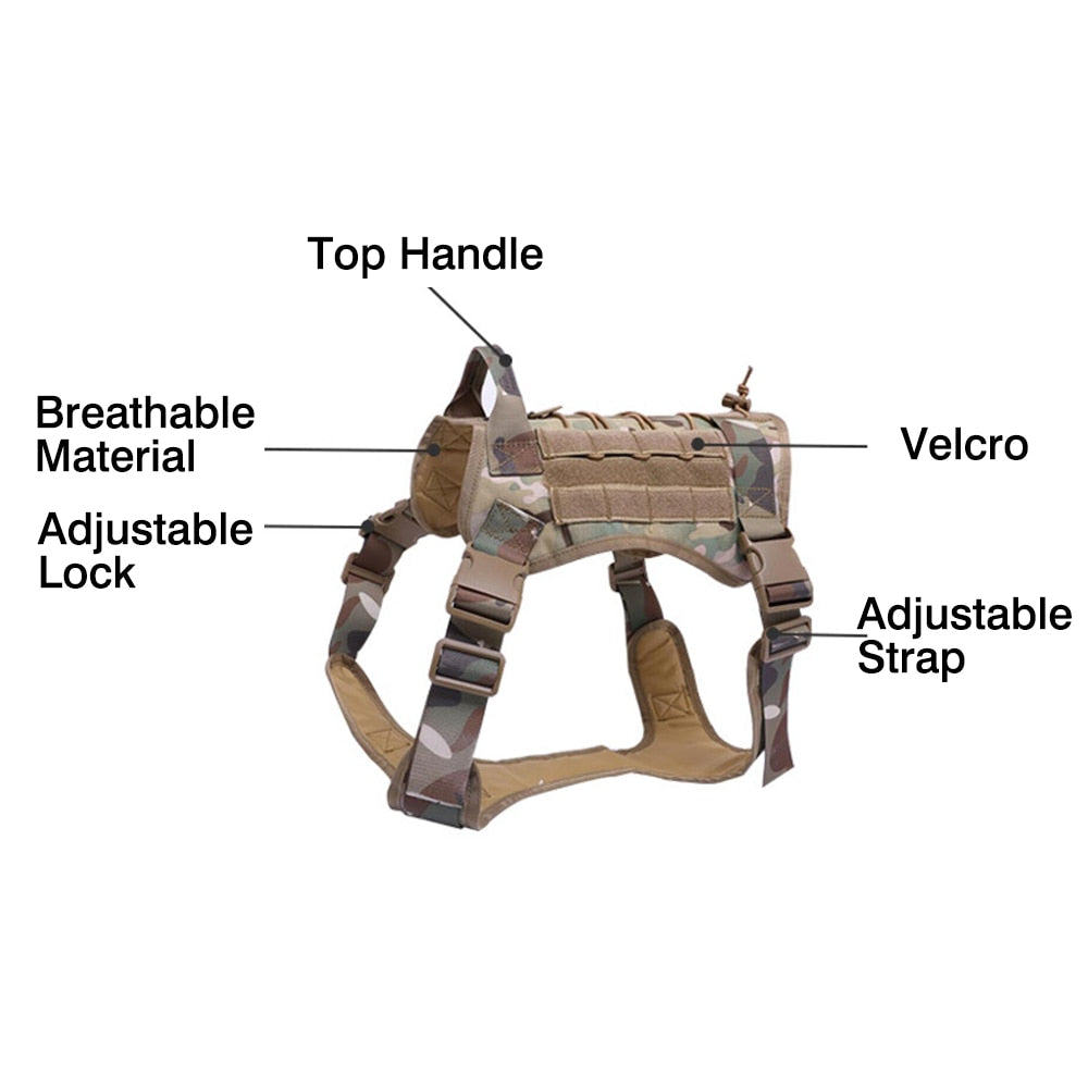 Dog Harness Camo