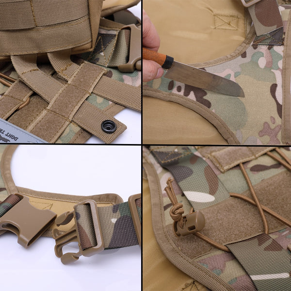 Barkhub™ No-Pull Military Tactical Dog Harness Vest