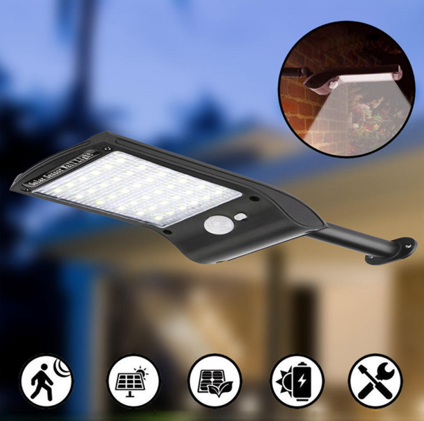 Solarhub™ Solar Powered 36 LED Motion Sensor Waterproof Light for Outdoor and Garden Security
