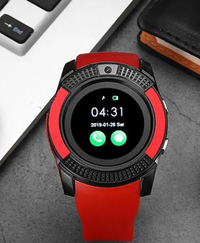 Hubgear™ GPS Fitness Activity Tracking Smartwatch, Red