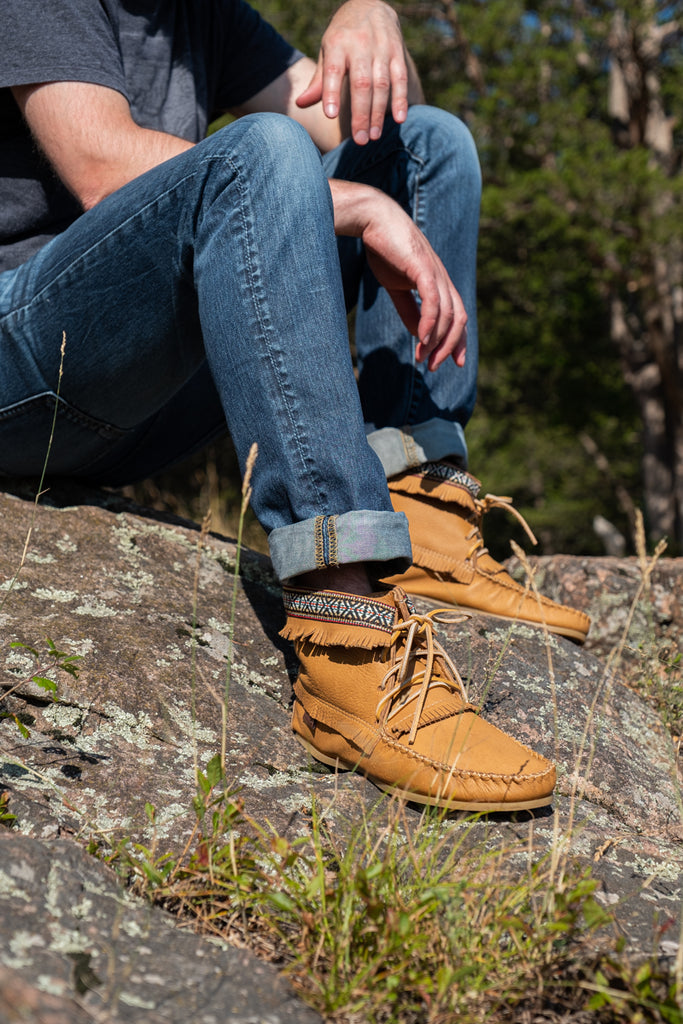 Men's Native Style Moccasin Boots