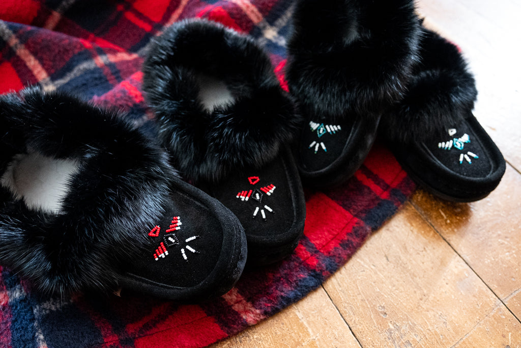 men's and women's rabbit fur moccasins canada