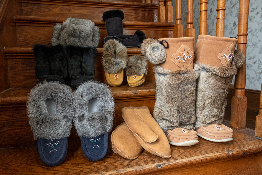 collection of Native style Canadian winter apparel