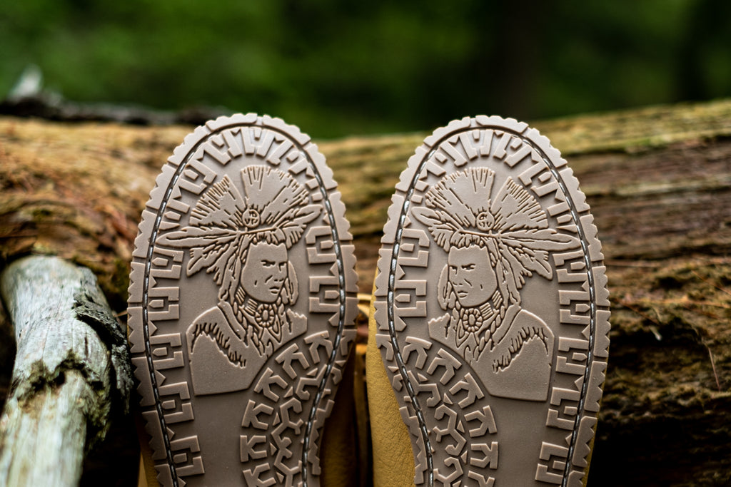 durable rubber camping sole tread is characterized by the striking Laurentian Chief logo
