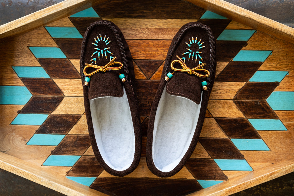 authentic native american beaded moccasins