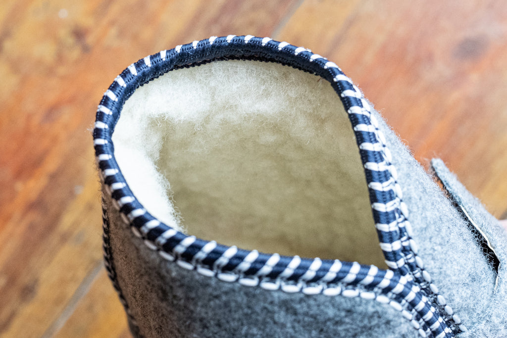 felt slippers with warm wool lining