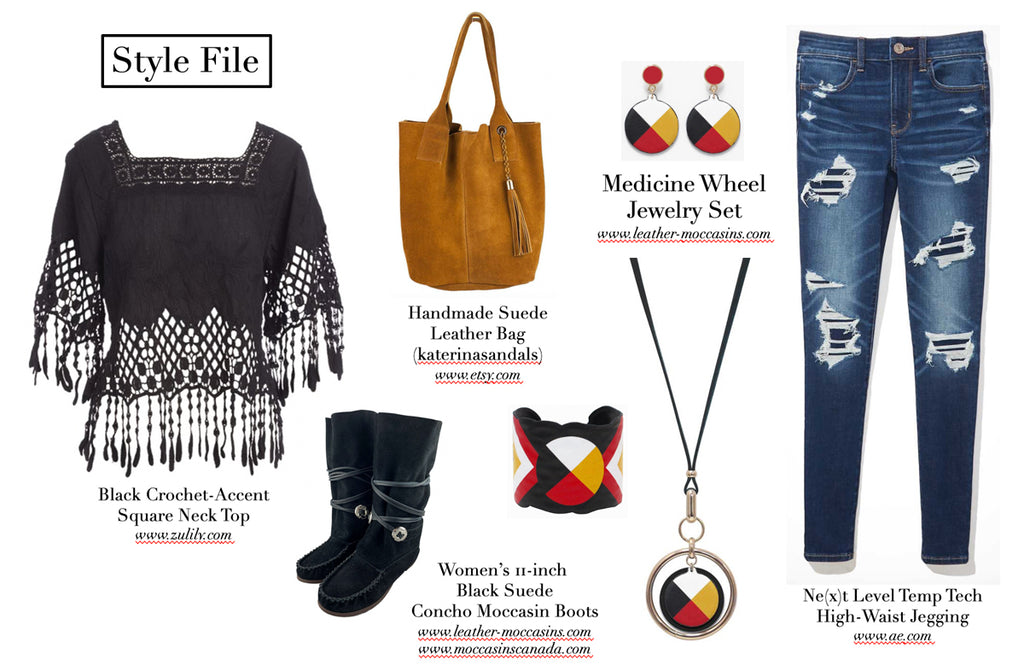 style outfit with native style jewelry