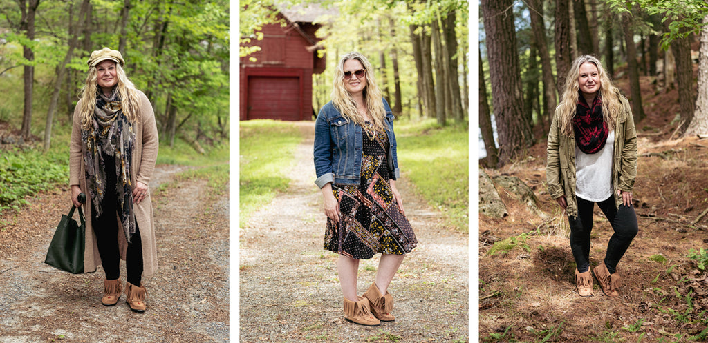 3 seasons moccasins outfits for fall spring and summer