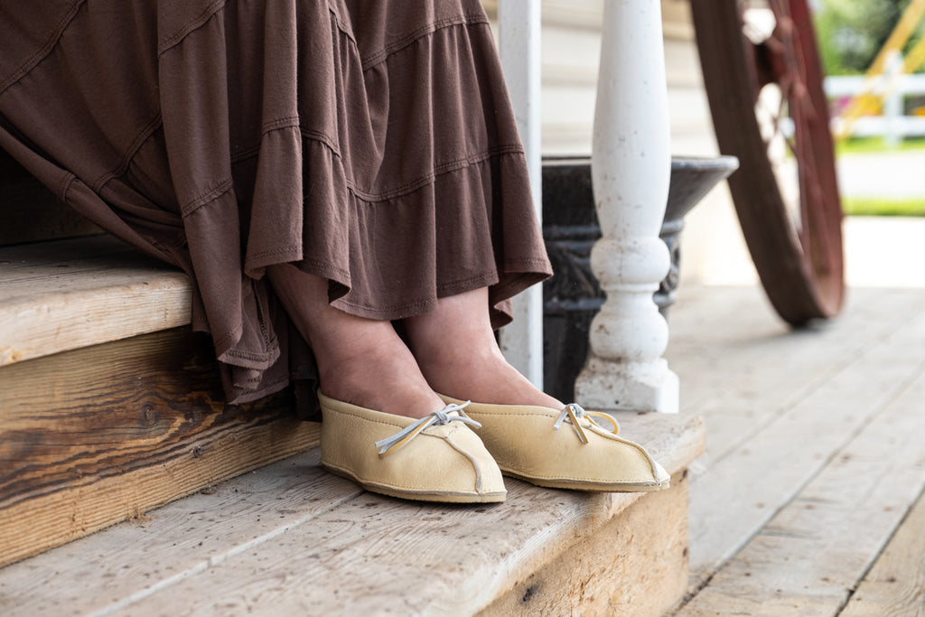 Ballerina ballet moccasins made from genuine leather