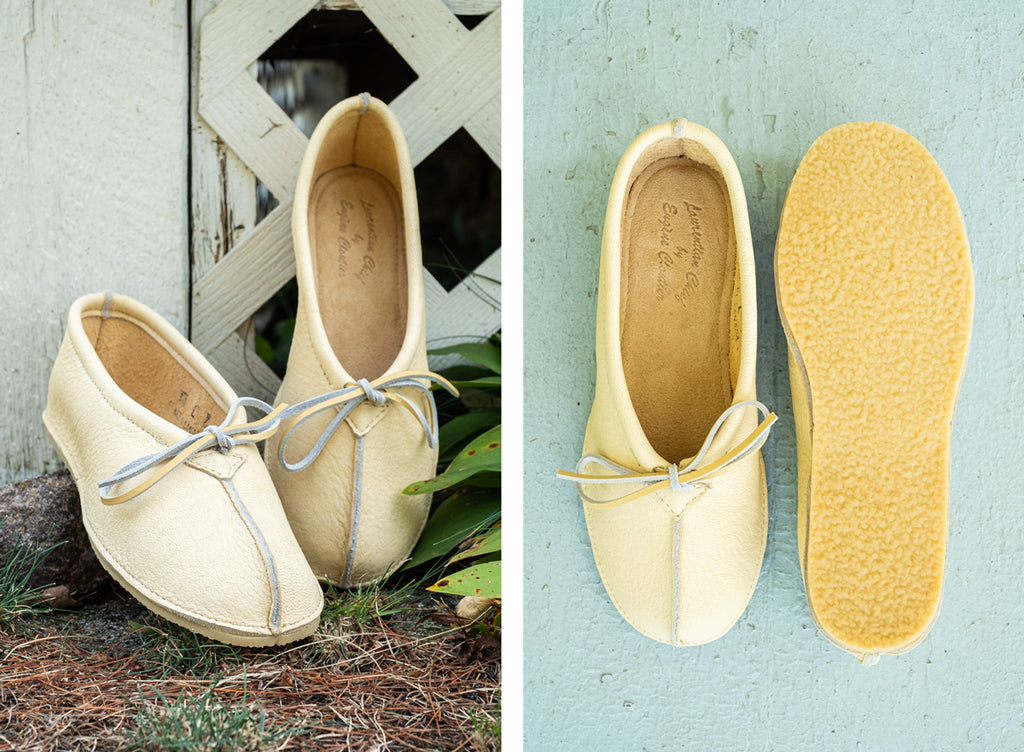Ballerina Laurentian Chief Moccasins with rubber sole for outdoor use