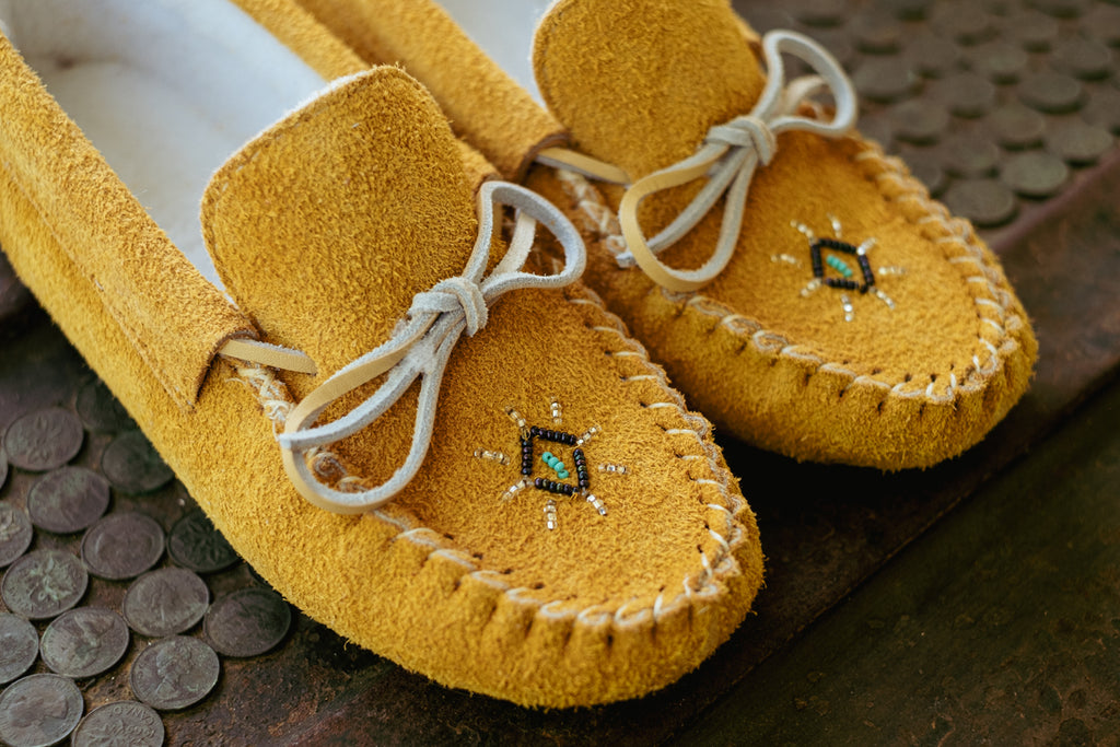 beautiful hand-beaded moccasins quality authentic