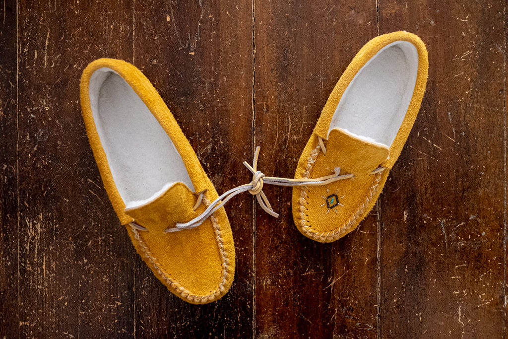 Men's & women's authentic Native American moccasin winter slippers
