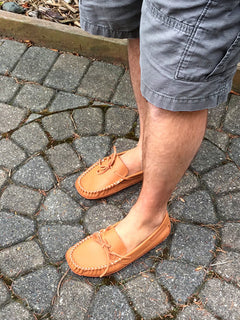 Moccasin Slippers – Leather-Moccasins