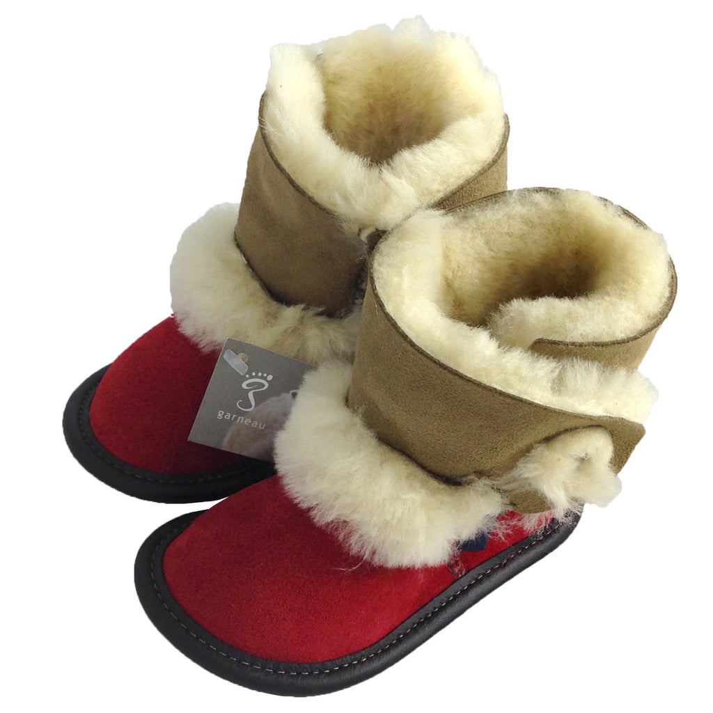 Children's Sheepskin Boot Slippers - 113 (Size 4  ONLY)