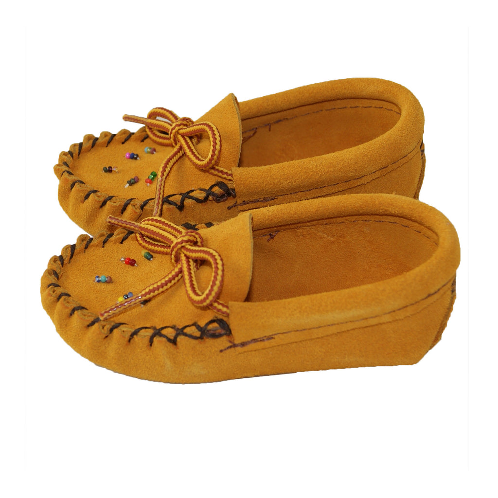 e6d03f9a63ab5 Baby Soft-Sole Genuine Suede Leather Moccasins with Beading ...