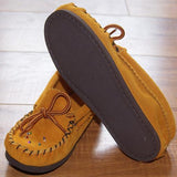 Baby Rubber Sole Suede Moccasins with Beading - 120-X-B