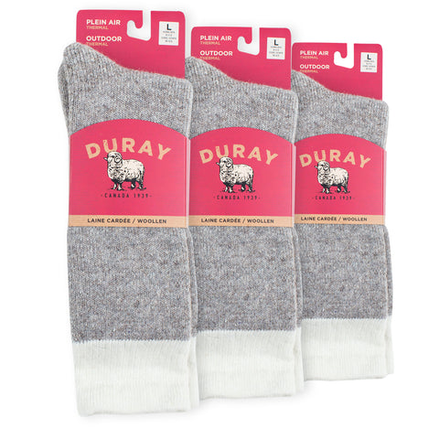 Boreal Thermal Wool Socks for Men and Women 3 Pack