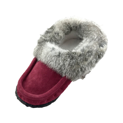 Men's Fleece Lined Suede Rabbit Fur Moccasins With Crepe Sole 12600 (Size 11 & 13 ONLY)