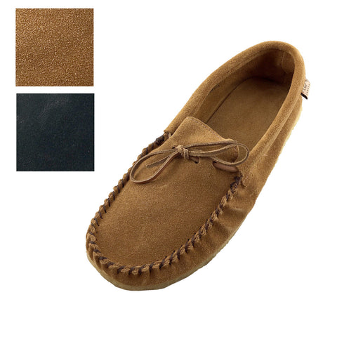 Men's Crepe Sole Moosehide Suede Moccasins 13107CL (SIZE 9 BLACK ONLY)