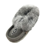 Children's Fleece Lined Suede Moccasins with Crepe Sole & Rabbit Fur 13660