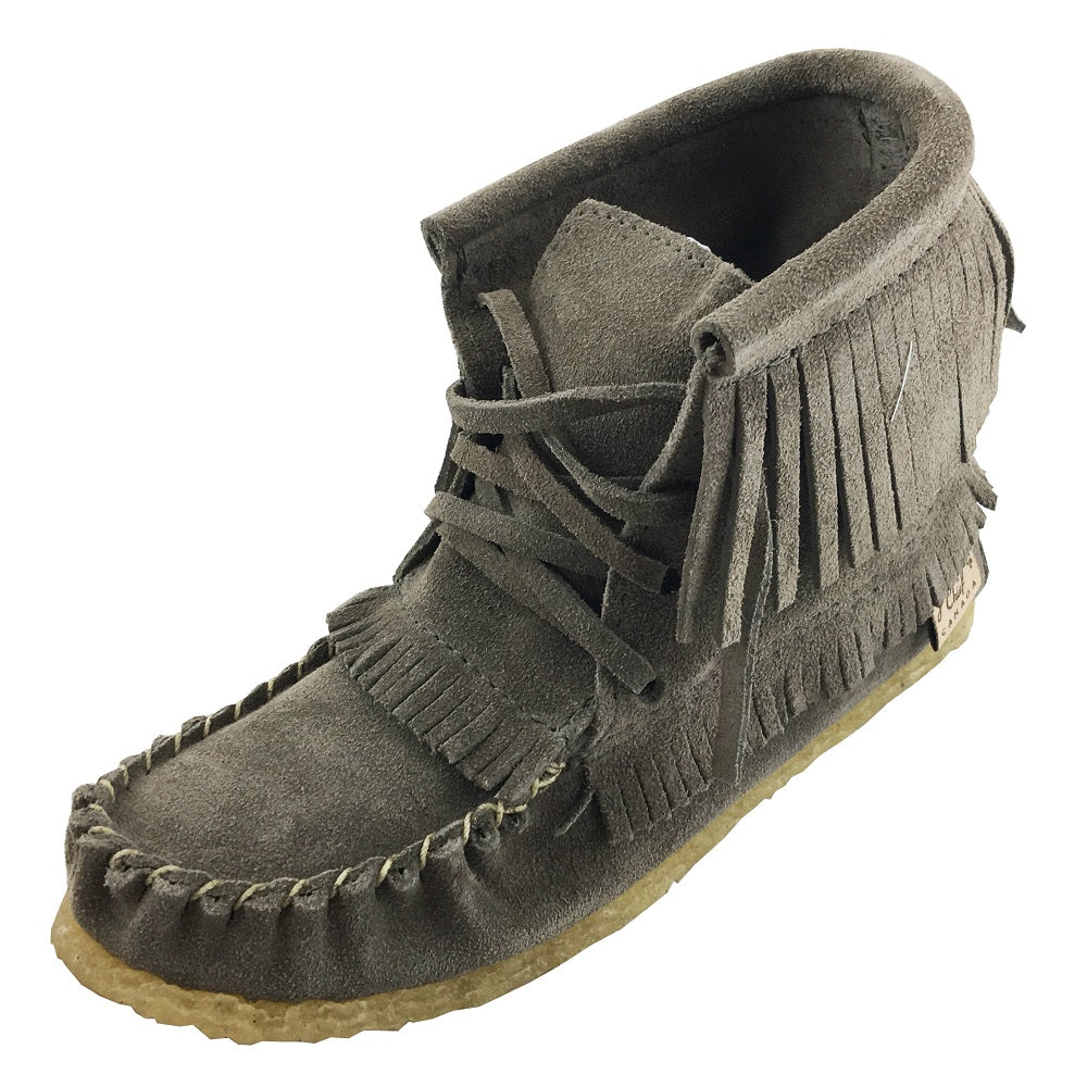 Youth Crepe Sole Genuine Suede Ankle Moccasins Boots With