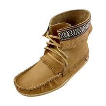 Men's Cork Brown Leather Moccasin Boots (SIZE 7,  8 & 9 ONLY)