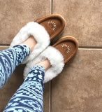 Women's Beaded Sheepskin Slippers with Crepe Sole 139113L