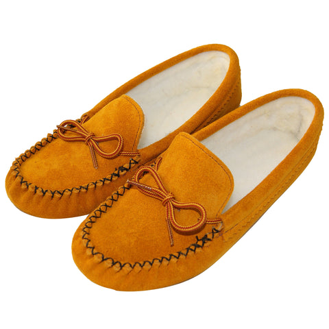 Ladies Fleece Lined Moccasins