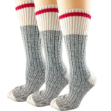 Classic Heritage Crew Wool Work Boot Socks for Men and Women 3 Pack 169C
