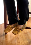 Women's Fringed Soft Sole Suede Moccasins 198W