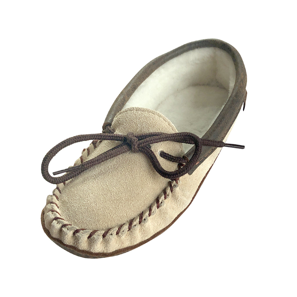 Women's Clearance Sheepskin Lined Suede Leather Moccasins