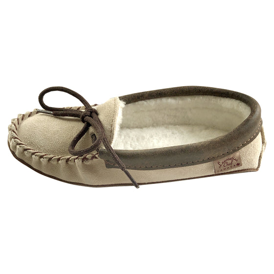 Women's Sheepskin Lined Suede Leather Moccasins 31053SOB