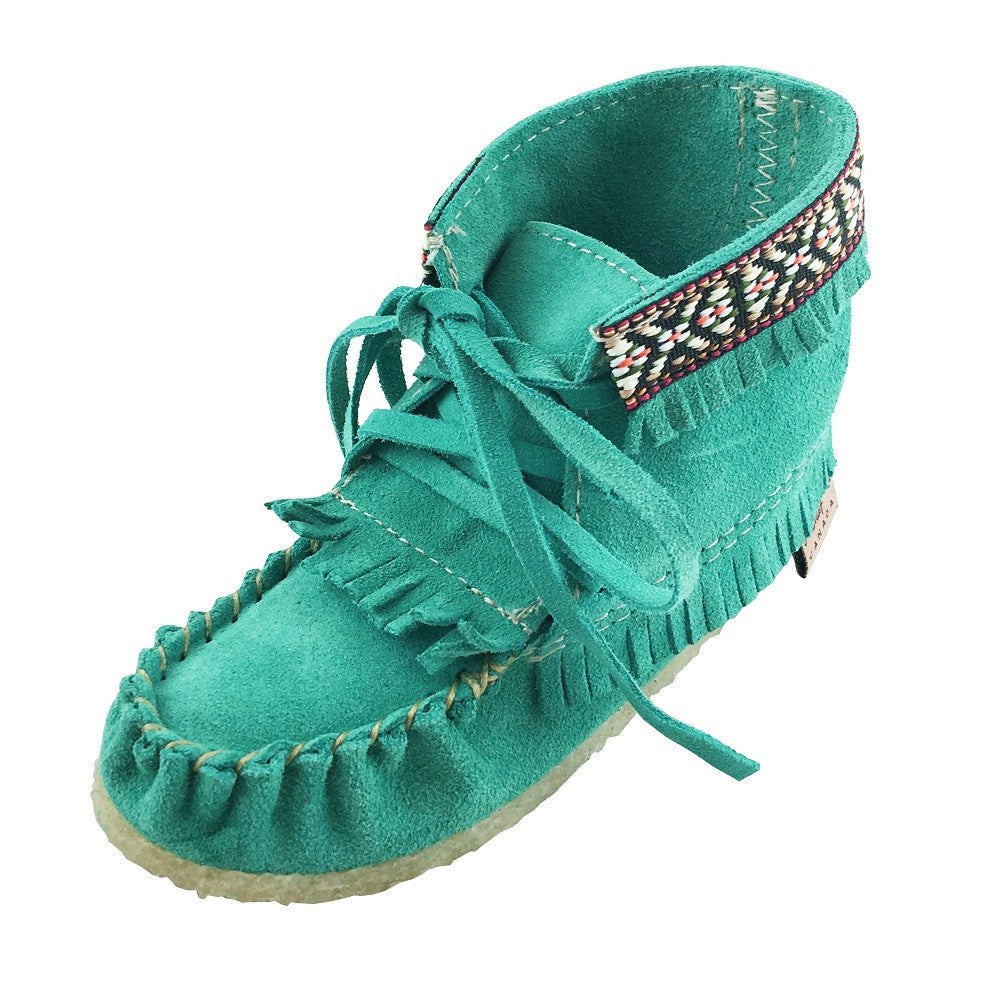 Children's Clearance Fringed Suede Moccasin Boots (SIZE Baby/Toddler 4, 5 & 6 ONLY)