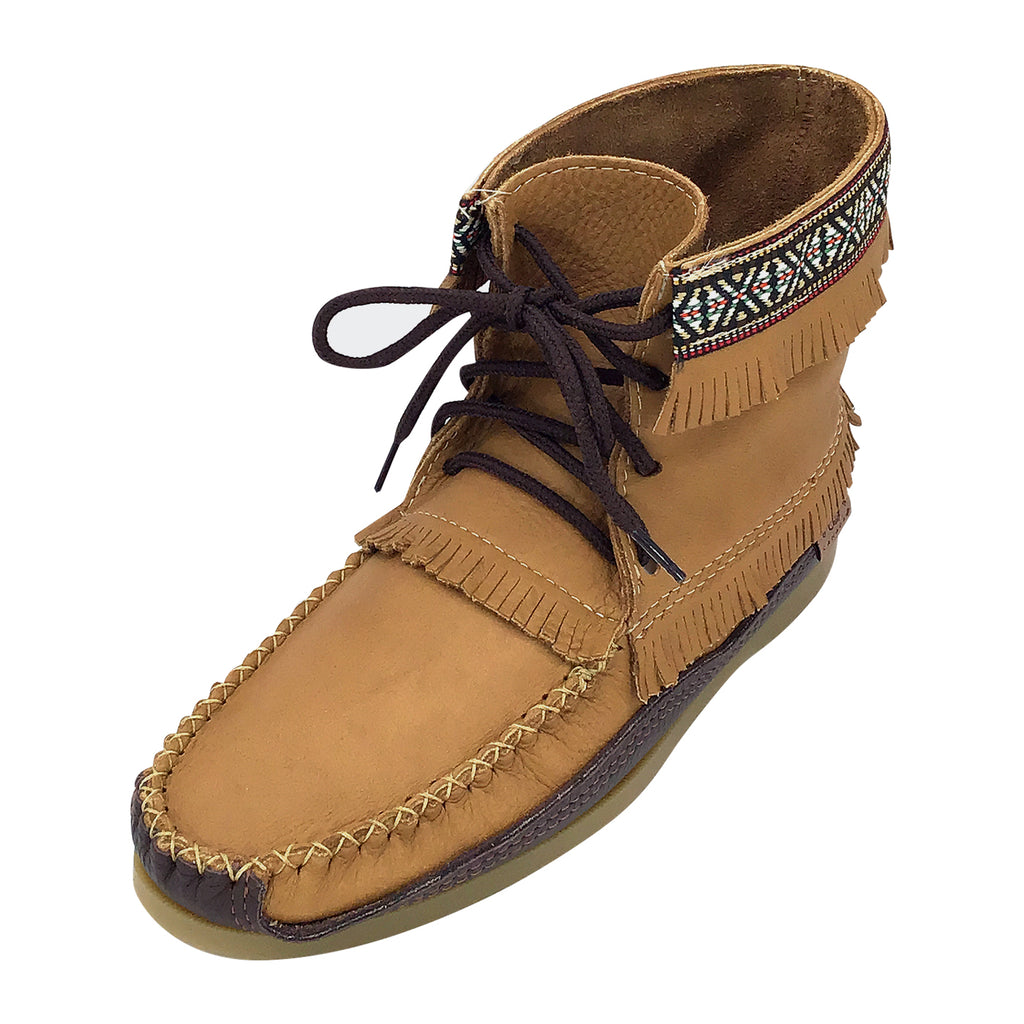 Men's Cork Brown Leather Moccasin Boots