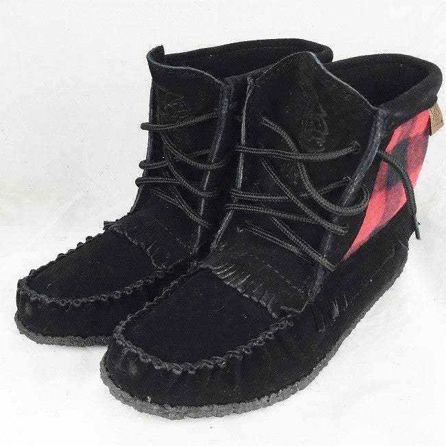Women's Black Suede Mohican Boots