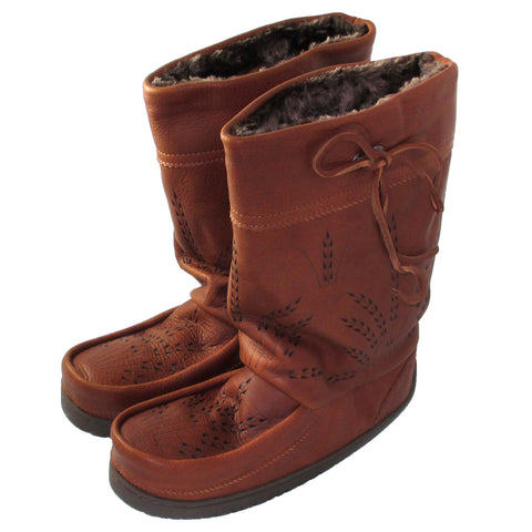 Men's Mid Gatherer Mukluks - Tobacco - 4011326