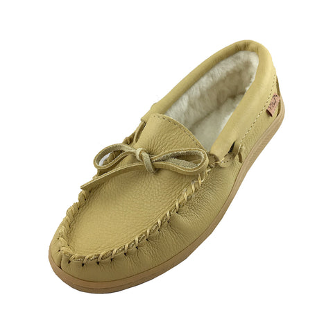 Women's Rubber Soled Fleece Lined Moccasins 41121 (Size 7 ONLY)