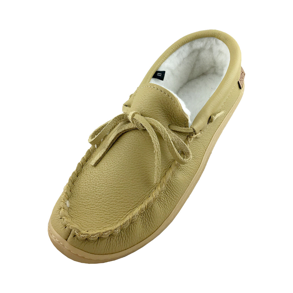 Men's Rubber Soled Fleece Lined Moccasins 41121M (Size 11 & 13)