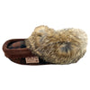 Children's Rabbit Fur Trim Wool Slippers