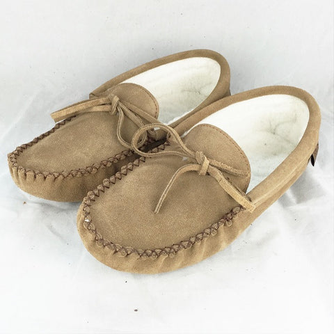 Men's Suede Fleece lined moccasins size 7 only 748STM