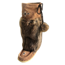 Women's Knee High Mocka Rabbit Fur Mukluks